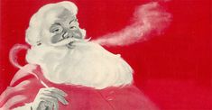 Santa Claus smoking