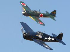 F6F Hellcat & Mitsubishi Zero