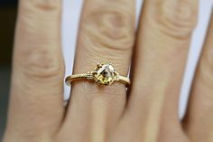 Yellow gold Nouveau Ring   #modern #vintage