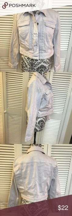 NWT Chico's light wash Jean jacket Brand new with tags  Size 1 from Chicos  Paid over $100  White wash with a very light bluish tint to it  Absolutely beautiful ! Chico's Jackets & Coats Jean Jackets