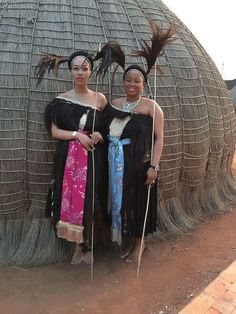 Their Royal Highnesses Inkhosikati LaDube & LaNtentesa African Attire, African Wear, African Women, African Culture, African History, African Inspired Fashion, African Fashion, African Traditional Wedding, Traditional Weddings