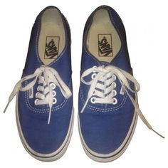 Pre-owned VANS NAVY BLUE TRAINERS found on Polyvore
