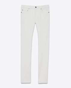4ff500ac75d8 Saint Laurent Original Low Waisted Skinny Jean In Light Used Black Stretch  Denim