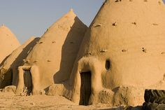 syrian beehive houses use stack effect, thermal mass to keep cool