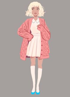 fashion with little Reagan ✨ Character Drawing, Character Illustration, Character Concept, Character Design Girl, Character Design Inspiration, Mode Poster, Cute Art Styles, Girls Characters, Pretty Art