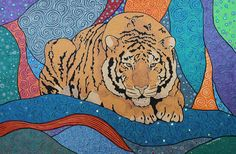 "Handpainted ""Siberian Tiger"" More info about me and my art :-)  manon-elmendorp.nl"