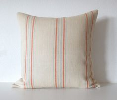 Decorative pillow cover  20x20  Cream  Orange  by chicdecorpillows, $48.00