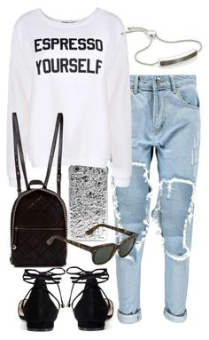 Untitled #4395 by sheryl798 on Polyvore featuring polyvore, fashion, style, Boohoo, STELLA McCARTNEY, Monica Vinader, Marc by Marc Jacobs and Ray-Ban