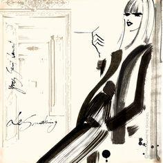 Margarete Gockel Illustration #YSL #YvesSaintLaurent #FashionIllustration…