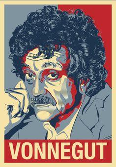 Kurt Vonnegut   Novelist Playwright Drinker  A by AtelierBagatelle, $17.99
