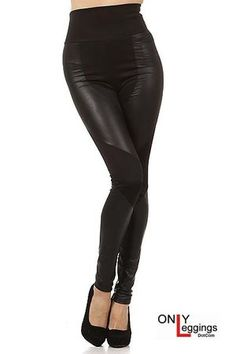 Here is an incredible pair of leggings that give you the look and feel of the mystery and excitement of the Dark Knight.  Our Gotham Faux Leather Leggings Plus Size have an incredible look and design that is sleek, sexy and very fashionable with an edgy appeal that will give your wardrobe a look and feel that only our Gotham Leather Legging can.  These leggings are made with a very high quality as with all of our faux leather leggings.  Bring the mystery and allure of our Gotham Faux Leather…
