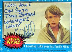 Depending on the fan, Hamill will sometimes sign with as much irreverence as he can...like with this hilariously dark joke.
