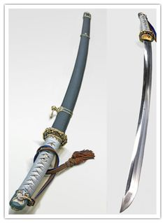 Looks like a sword carried by the Imperial Japanese Army. Ninja Weapons, Anime Weapons, Fantasy Weapons, Swords And Daggers, Knives And Swords, Dao Sword, Samurai Swords Katana, Armas Ninja, Cool Swords