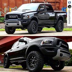 "#Repost @calcustoms  2016 Ram Rebel. 4"" BDS Air Lift kit. 20x9 Fuel Lethal with…"