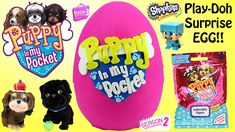 NEW Puppy In My Pocket Play Doh Surprise Egg - Charm Bracelet, Shopkins,...