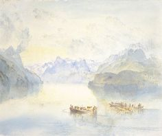 Lake Lucerne: The Bay of Uri...c.1841-2 by  Joseph Mallord William Turner
