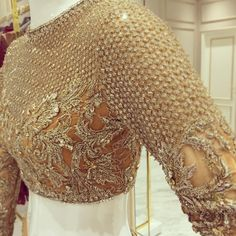 Collection of Latest Golden color blouse designs ideas on wedlockindia.See more ideas on golden blouse designs, Kerala blouse designs and more. Golden Blouse Designs, Sari Blouse Designs, Bridal Blouse Designs, Lehenga Blouse, Red Lehenga, Lehenga Choli, Sarees, Anarkali, Pakistani Bridal