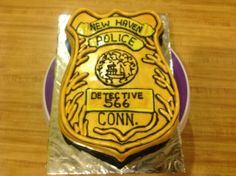 Detective Badge Of Course! Police Badges, Police Detective, Creative Decor, Goodies, Decorating, Sweet Like Candy, Decoration, Treats, Gummi Candy