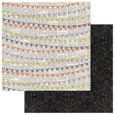 Photoplay - Bootiful - 12 x 12 Banners Scrapbook Paper