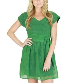 Take a look at this Julep Polka Dot Belted Dress by Tulle on #zulily today!