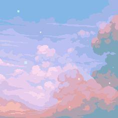 Down the color wheel with Merrigo Retronator Artist Feature Aesthetic Pastel Wallpaper, Aesthetic Backgrounds, Aesthetic Wallpapers, Sky Aesthetic, Aesthetic Anime, Aesthetic Design, Wallpeper Tumblr, Minecraft Banner Designs, Minecraft Crafts