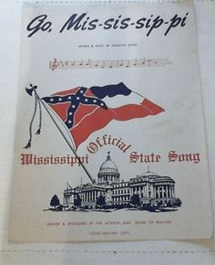 Go Mississippi: Official State Song by Houston Davis  Published 1962  Jackson