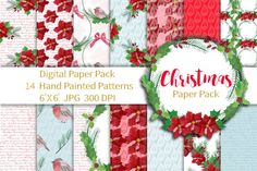 Christmas Paper Pack, Seamless Patterns  By Annakristal
