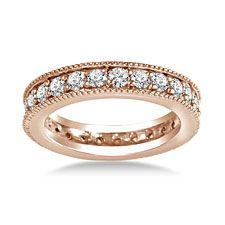 18K Rose Gold Milgrain Edged Diamond Eternity Ring (0.78 - 0.90 cttw.) http://balori.com/pins/956