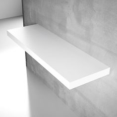 TFT Clever 115cm Wall Mounted Shelf, Matt White | ACHICA