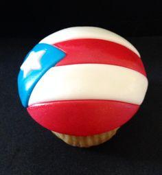 Puerto Rican Flag Cupcake