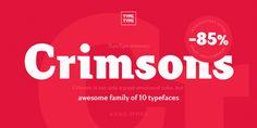 Crimsons fontfamily on Behance