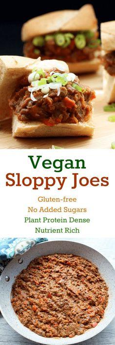 Vegan Sloppy Joes (Gluten-free, No added sugars)
