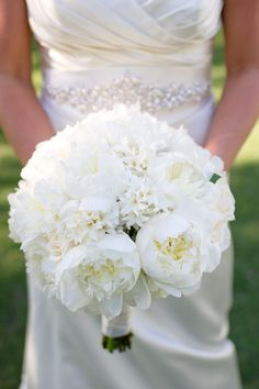 All white with a peony mix! ---> http://www.weddingchicks.com/2014/06/09/moores-mill-club-wedding-by-the-studio-b-photography/