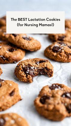 Healthy Cookie Recipes, Vegan Dessert Recipes, Healthy Cookies, Gluten Free Desserts, Healthy Desserts, Real Food Recipes, Baking Recipes, Yummy Food, Lactation Recipes