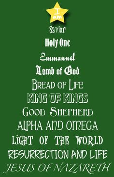 Christmas Tree NAMES OF JESUS framed print 11 x 17 for yourself, or as a gift by builtbydesign on Etsy