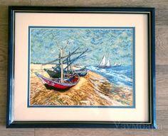 Лодки по картине Ван Гога. Фирменный набор от Ангор.