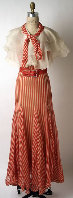 1932  Striped Outfit