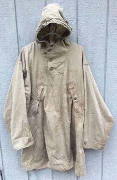Vintage 1940's WW2 U.S. Army Reversible Mountain Parka Jacket Medium