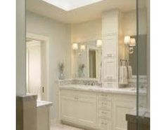 60 inch vanity and linen closet or larger vanity?