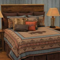 Bison Ridge I Bedding Set by Wooded River, Size: Super King Wood River, King Pillows, Ruffle Bedding, Quilt Sets, The Ranch, California King, Duvet Cover Sets, Pillow Covers, Bedding Collections