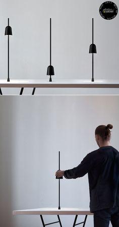 Ascent lights by Daniel Rybakken for Luceplan. Photo © Luceplan. /BEST OF MILAN DESIGN WEEK 2013 / http://www.yatzer.com/best-of-milan-design-week-2013