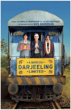 All aboard! A great poster of the Whitman Brothers - Adrien Brody, Owen Wilson, and Jason Schwartzman - from Wes Anderson's 2007 film the Darjeeling Limited! Ships fast. 11x17 inches. Check out the re