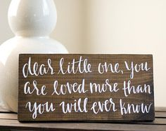 Custom Hand Lettered Calligraphy Quote Wood Sign