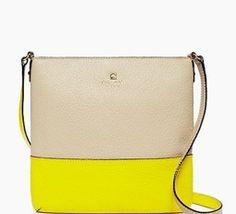 Kate Spade Southport Avenue Cora Cross Body / Gorgeous Yellow & Pearl / NWT