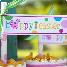 happy easter straw flags!