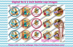 1' Bottle caps (4x6) Digital berenstein bears K240   PLEASE VISIT http://craftinheavenboutique.com/AND USE COUPON CODE thankyou25 FOR 25% OFF YOUR FIRST ORDER OVER $10! #bottlecap #BCI #shrinkydinkimages #bowcenters #hairbows #bowmaking #ironon #printables #printyourself #digitaltransfer #doityourself #transfer #ribbongraphics #ribbon #shirtprint #tshirt #digitalart #diy #digital #graphicdesign please purchase via link http://craftinheavenboutique.com