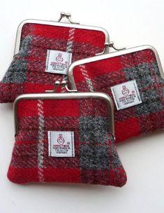 Harris Tweed coin purses. Made in Scotland.