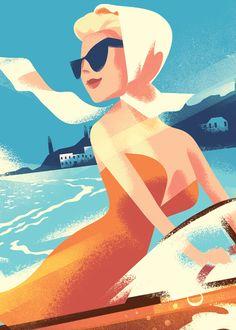Mads Berg Illustration - Index Art Deco Posters, Vintage Posters, Vintage Art, Art Deco Illustration, Character Illustration, Art Deco Paintings, Art Nouveau, Mid Century Art, Retro Art