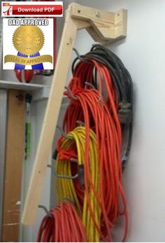 Electric Cord Holder Plan/garage organizer plan/electrical cord organizer plan/rope organizer plan/electric cord holder plan/garage pdf/pdf