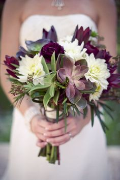#burgundy wedding bouquet... Wedding ideas for brides& bridesmaids, grooms & groomsmen, parents & planners ... https://itunes.apple.com/us/app/the-gold-wedding-planner/id498112599?ls=1=8 … plus how to organise an entire wedding, without overspending ♥ The Gold Wedding Planner iPhone App ♥